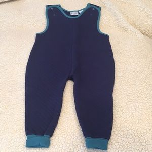 L.L. Bean boys navy and green one piece bodysuit